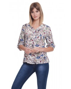 SEM FLOWERS SHIRT BLUE